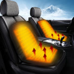 New              Universal 12V Electric Car Front Seat Heating Cover Padded Thermal Cushion