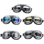 New              Retro Helmet Goggles Motorcycle Scooter Cycling Riding Eyewear Glasses