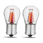 New              2PCS Upgraded 1157 BAY15D 21/5W Red 4 Filament COB LED Stop Brake Lights Bulb Parking Turn Lamp 450LM Super Bright 12V-24V