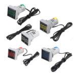 New              Mini Crystal Film Square LED Digital Thermometer Signal Light AC 50-380V 220V Temperature Meter Indicator Range -20-200℃ with 1m Sensor