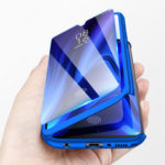 New              For Xiaomi Mi A3 / Xiaomi Mi CC9E Bakeey 360° Full Body Frosted PC Front+Back Cover Protective Case with Tempered Glass Screen Protector