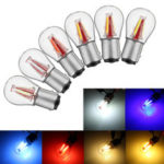 New              Upgraded 1157 BAY15D 21/5W 4 Filament COB LED Stop Brake Lights Bulb Parking Turn Lamp 450LM Super Bright 12V-24V
