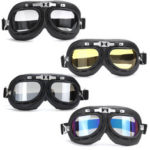 New              Windproof Retro Helmet Goggles Motorcycle Skiing Scooter ATV Flying Eyewear Glasses