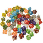 New              70Pcs Acrylic Polyhedral Dices Set Role Playing Game Dice Gadget for Dungeons Dragons D20 D12 D10 D8 D6 D4 Games