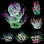 New              Aquarium Fish Tank Decor Silicone Sea Anemone Plant Artificial Coral Ornament Aquarium Decorations