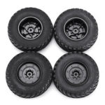 New              4PCS Rims & Tires RC Car Wheels for HG P408 1/10 RC Car Spare Parts 4ASS-PA008