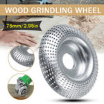 New              75mm Wood Grinding Wheel Angle Grinder Woodworking Carving Disc Sanding Abrasive Tool