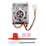 New              ICE Tower Cooling Fan For Jetson Nano Horizontal LED Color Fan Radiator  with PWM Speed Color Led