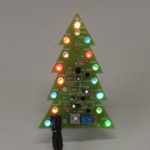 New              Assembled USB Christmas Tree 16 RGB LED Color Light Electronic PCB Decoration Tree Children Gift Ordinary Version