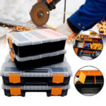 New              Plastic Carry Tool Storage Box Case Screw Hardware Display Organizer Container