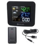 New              Wireless Weather Station Thermometer HD Screen Digital Humidity Temperature Clock+Sensor