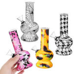 New              Borosilicate Glass Water Pipes Herb Tube Portable Fashion Art