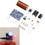 New              Mini 12V Power Supply Tesla Coil Module DIY Spare Space Lighting Tech Electronic Production Kit