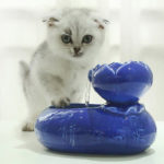 New              Ceramic Cat Dog Pet Automatic Circulating Water Dispenser Fountain Basin Drink Bowl