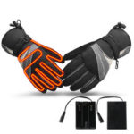 New              WARMSPACE Waterproof Electric Heating Gloves Winter Heated Hand Warmer Non-slip Motorcycle Camping Hiking