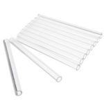 New              10Pcs Length 100mm OD 10mm 1.5mm Thick Wall Borosilicate Glass Blowing Tube Lab