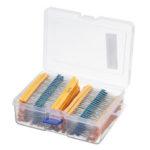 New              2600pcs 130 Values 1/4W 0.25W 1% Metal Film Resistors Assorted Pack Kit Set Lot Resistors Assortment Kits Fixed Resistor