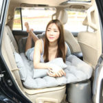 New              Car Inflatable Mattress Back Seat Inflatable Bed Travel bed Flocking with Pillow Pump Storage Bag