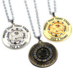 New              Iron Tony MK1 Reactor Keychain Necklace Energy Block Core Alloy Pendant Movie Peripheral Toys