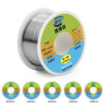 New              WNB 90g 63/37 Rosin Core Tin Lead 183℃ Melt Silver Solder Wire Welding Flux 2.0% Iron Cable Reel 0.3mm 0.4mm 0.5mm 0.6mm 0.8mm
