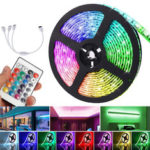 New              15M Non-waterproof DC12V 5050 RGB Flexible Tape 450LED Strip Light Kit + 24Keys IR Remote Control