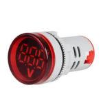 New              3pcs Red ST16VD 22mm Hole Size 6-100 VDC Digital Voltmeter Round Voltage Detector Tester Mini LED Voltage Indicator Signal Light Monitor