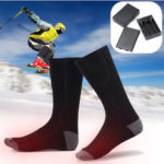New              1 Pair Cotton Electric Heating Cotton Socks Foot Warmer Winter Feet Thermal SKiing Riding Heated Socks
