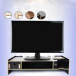 New              Wooden Monitor Stand Desktop LCD LED PC Monitor TV Riser Organizer Storage Rack Bookshelf Storage Shelf