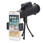 New              IPRee® 40×60 10 Times FMC Coating BAK4 Monocular Ultra HD Waterproof Low Light Night Vision Phone Telescope + Phone Clip + Tripod