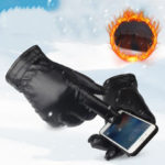 New              Bakeey PU Leather Screen Touch Gloves Winter Warm Waterproof Outdoor Motorcycle Bicycle Riding Games Touch-screen Glove