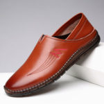 New              Men Cowhide Soft Casual Loafers