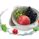 New              Vegetable Fruit Washing Drain Basket Mesh Strainer Drying Colander Kitchen