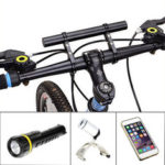 New              Black Bike Flashlight Holder Handle Extender Mount Bicycle Bracket Accessories
