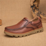 New              Retro Slip Resistant Casual Business Office Leather Oxfords