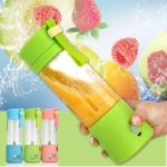 New              3.6V Portable Blender Smoothie Juicer Cup 14oz Fruit Mixing Machine With 2000mAh USB Rechargeable Blender for Home