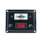 New              10A DC 12V Dual Battery Voltage Test Panel with Rocker Switch for RV Boat Marine Car Accessory Battery Tester