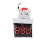 New              5pcs Mini Crystal Film Square Red LED Digital Thermometer Signal Light AC 50-380V 220V Temperature Meter Indicator Range -20-200℃ with 1m Sensor