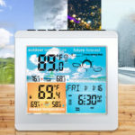 New              Bakeey Weather Station Daily Clock Low battery Alarm Thermometer Hygrometer Outdoor Indoor Temperature Humidity Sensor