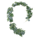 New              Artificial Silver Dollar Eucalyptus Garland Faux Silk Leaf Vine Greenery Willow Ring Wedding Home Garden Decorations