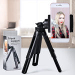 New              Bakeey 360 Degree Rotation Foldable Live Broadcasting Selfie Photographing Tripod Selfie Stick Desktop Phone Holder