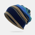 New              Unisex Outdoor Winter Stripes Beanie Hat