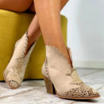 New              Women Plus Size Suede Laciness Breathable Ankle Boots