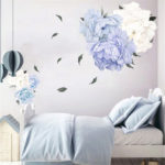 New              Peony Flower Blossom Wall Sticker Art Nursery Living Bedroom Home Decor Decal Wall Decorations