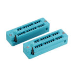 New              2pcs IC Lock Seat Zif Socket Test Universal zif Sockets 28Pin Narrow
