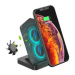 New              Desktop Type-C Double Coils 10W Wireless Charger with Cooling Fan for Qi-enabled Smart Phone for iPhone 11 for Samsung Galaxy Note 10