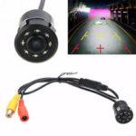 New              170° CMOS Car Rear View Backup Camera Reverse 8 LED Night Vision Waterproof