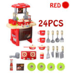 New              Kid Children Kitchen Pretend Play Cooking Set Toys Toddlers Home Dinner Cookware