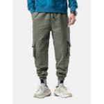 New              Men's New Plus Velvet Thick Large Size Overalls Leg Pants Ca