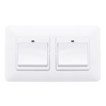 New              Dual 1 Gang WiFi Smart Push Button Switch DE EU Smart Life Tuya Wireless Remote Control Work with Alexa Google Home