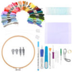 New              85PCS DIY Magic Embroidery Stitching Punch Needle Tool Stitching Punch Pen with Case Sets DIY Craft Sewing Tool for Embroidery Cross Stitch